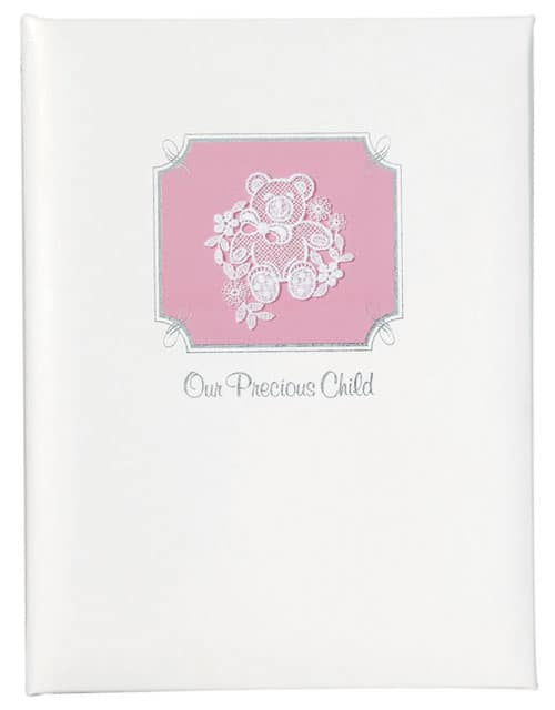 Baby or Child Pink Memorial Guest Book, Funeral Register Book for