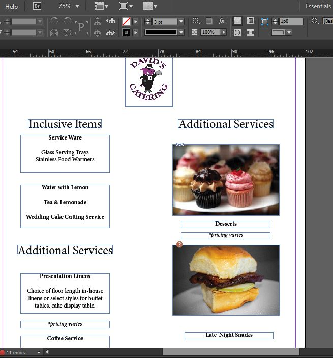 Two Wedding Catering Menu Templates, For FREE! - Independent