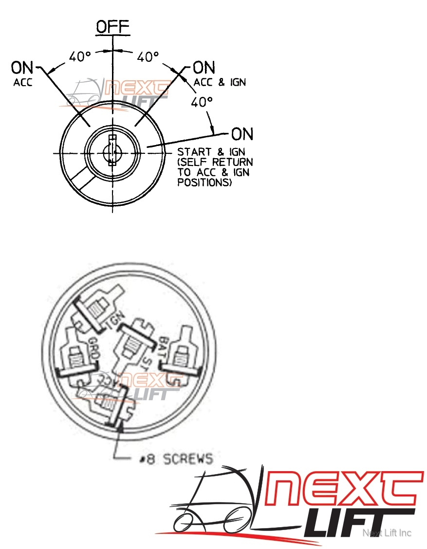 clark hyster yale universal forklift ignition switch crown daewoo