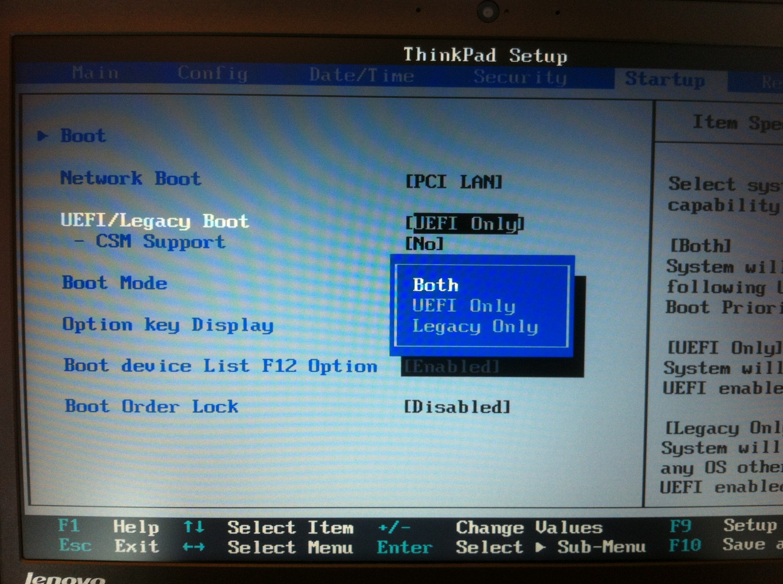Uefi Legacy Boot Option To Both Next Of Windows