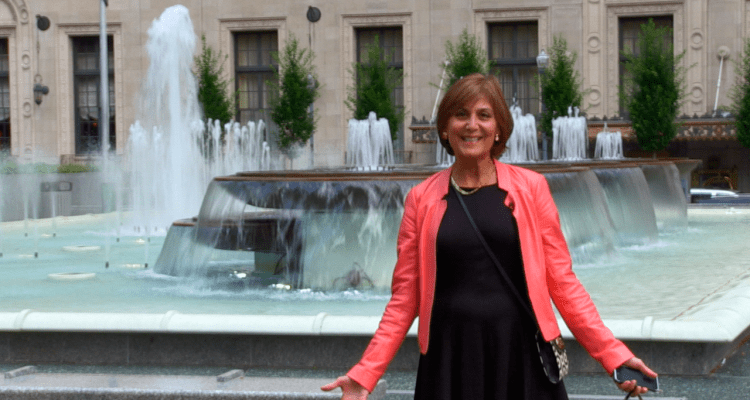 Jeanne Antonuccio, downtown Pittsburgh resident, in Mellon Square