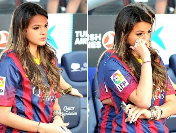 Bruna Marquezine in Barcelona, crying for Neymar