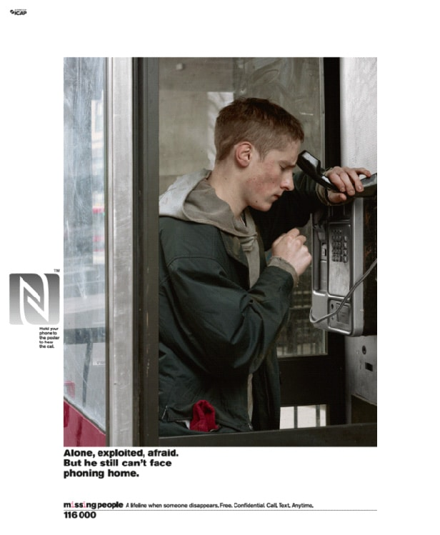 Charity adds emotion to missing person posters with NFC \u2022 NFC World - missing person posters