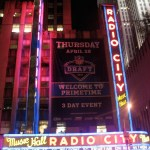 Good night from Day 1 of the NFL Draft outside Radio City Music Hall