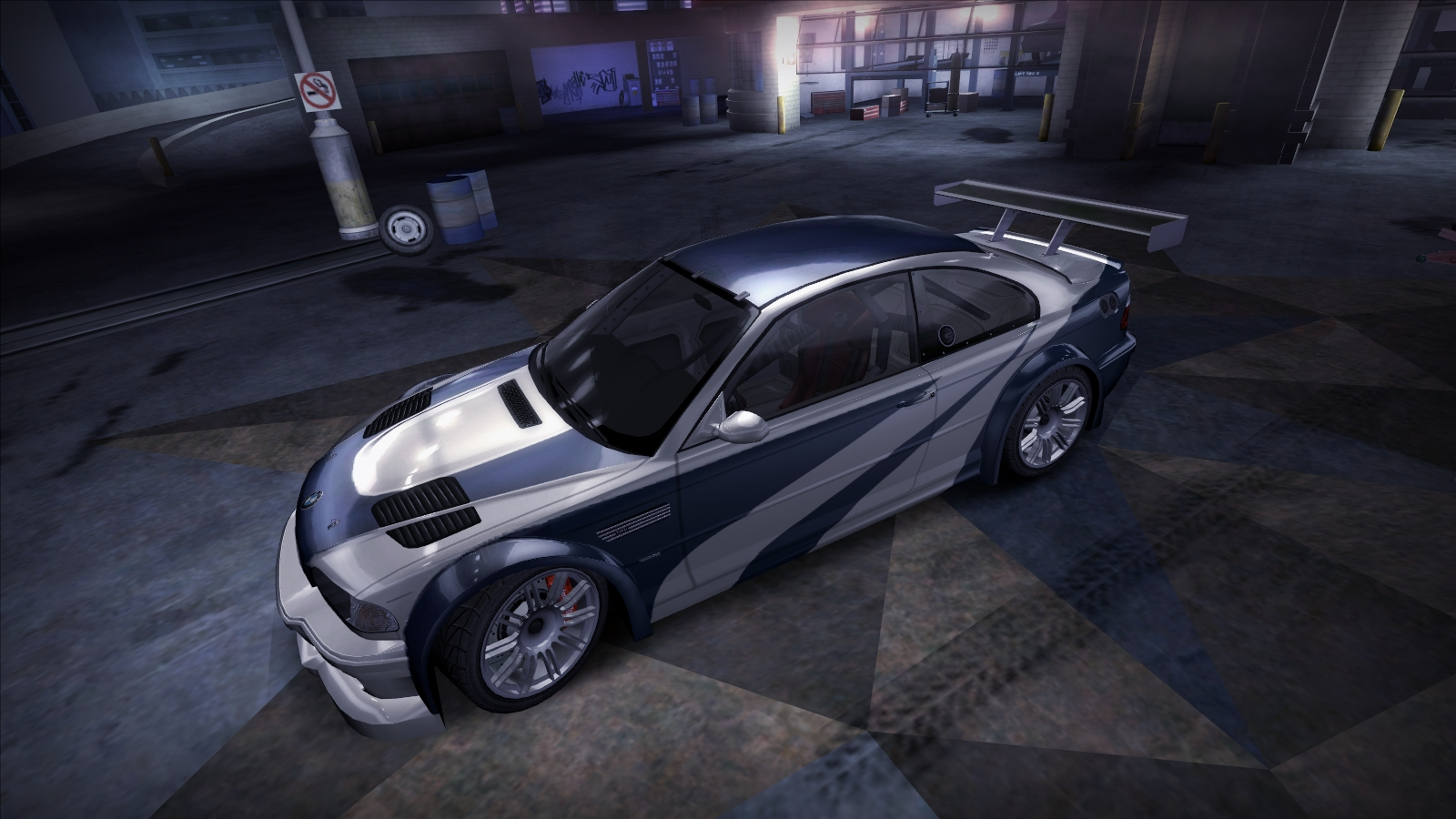 Nfs Carbon Cars Wallpaper My Bmw M3 Gtr E46 With Hero Vinyl From Nfs Most Wanted