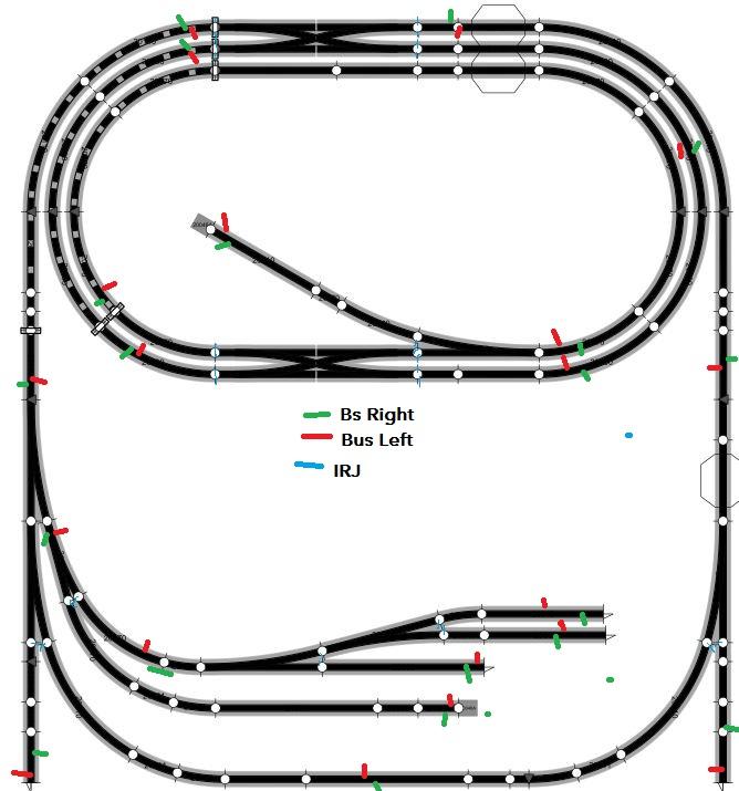 N Gauge Track Wiring Dcc