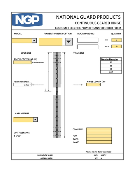 Order Forms - National Guard Products