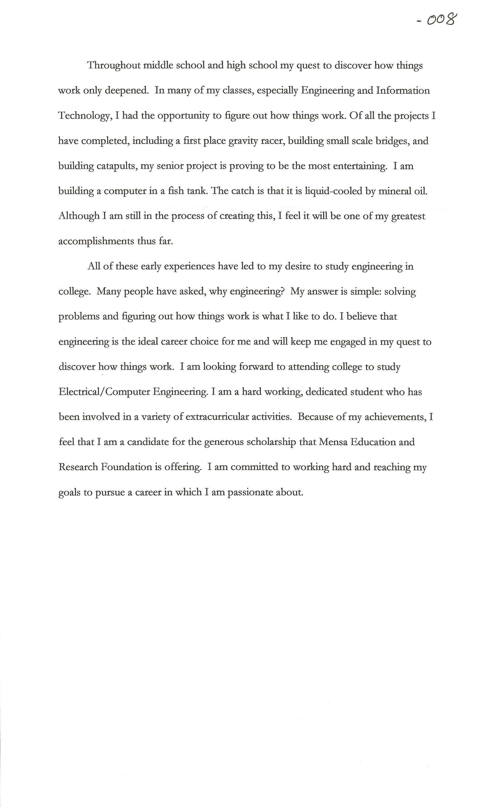 goals essay examples resume cv cover letter - Example Essays For Scholarships
