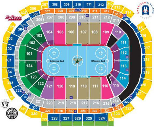 NHL Hockey Arenas - American Airlines Center - Home of the Dallas Stars