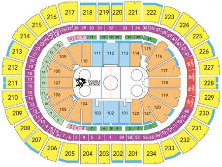 NHL Hockey Arenas - Consol Energy Center - Home of the Pittsburgh