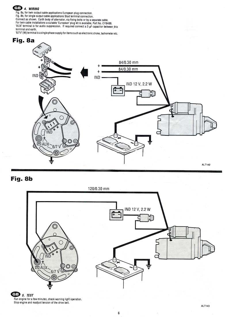 rover alternator wiring diagram