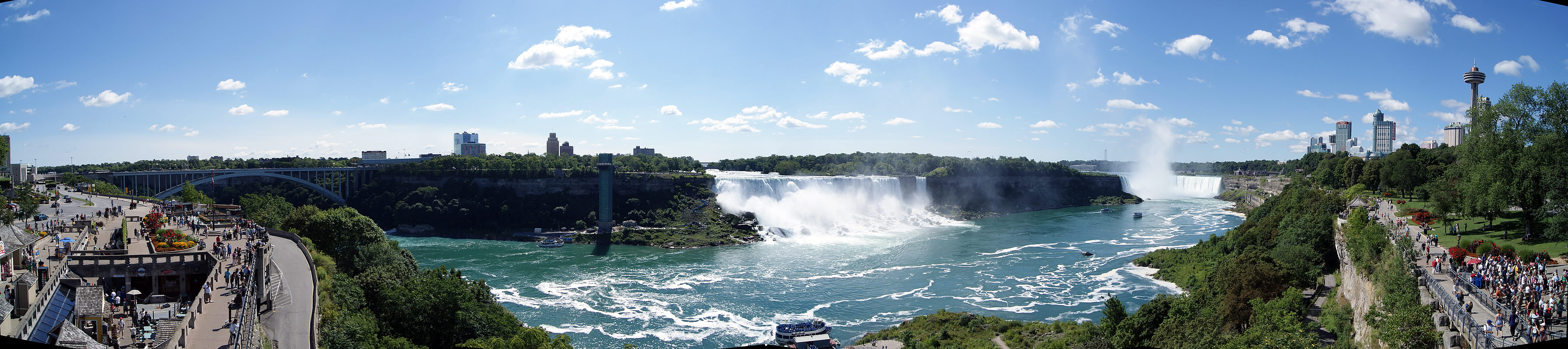 Wallpaper Fall Images Niagara Falls Summer Panorama Photo