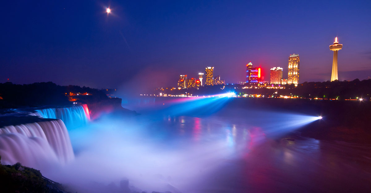 Niagara Water Falls Desktop Wallpaper Niagara Falls Lights Show Marriott Niagara Falls Hotel