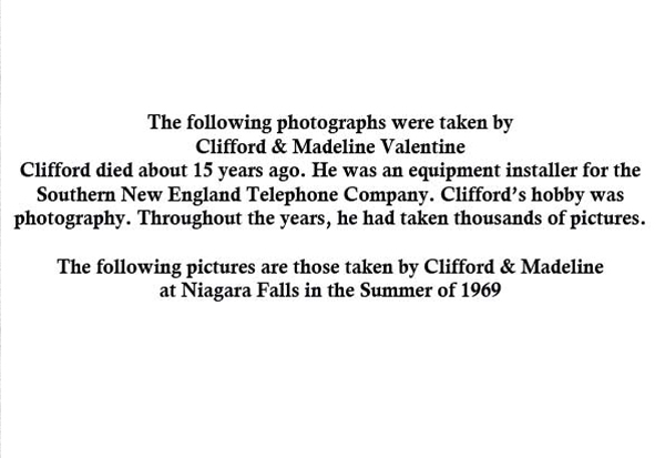 Niagara Falls - Dewatered American Falls (1969)