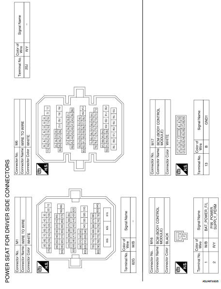 Nissan Altima 2007-2012 Service Manual Power seat for driver side