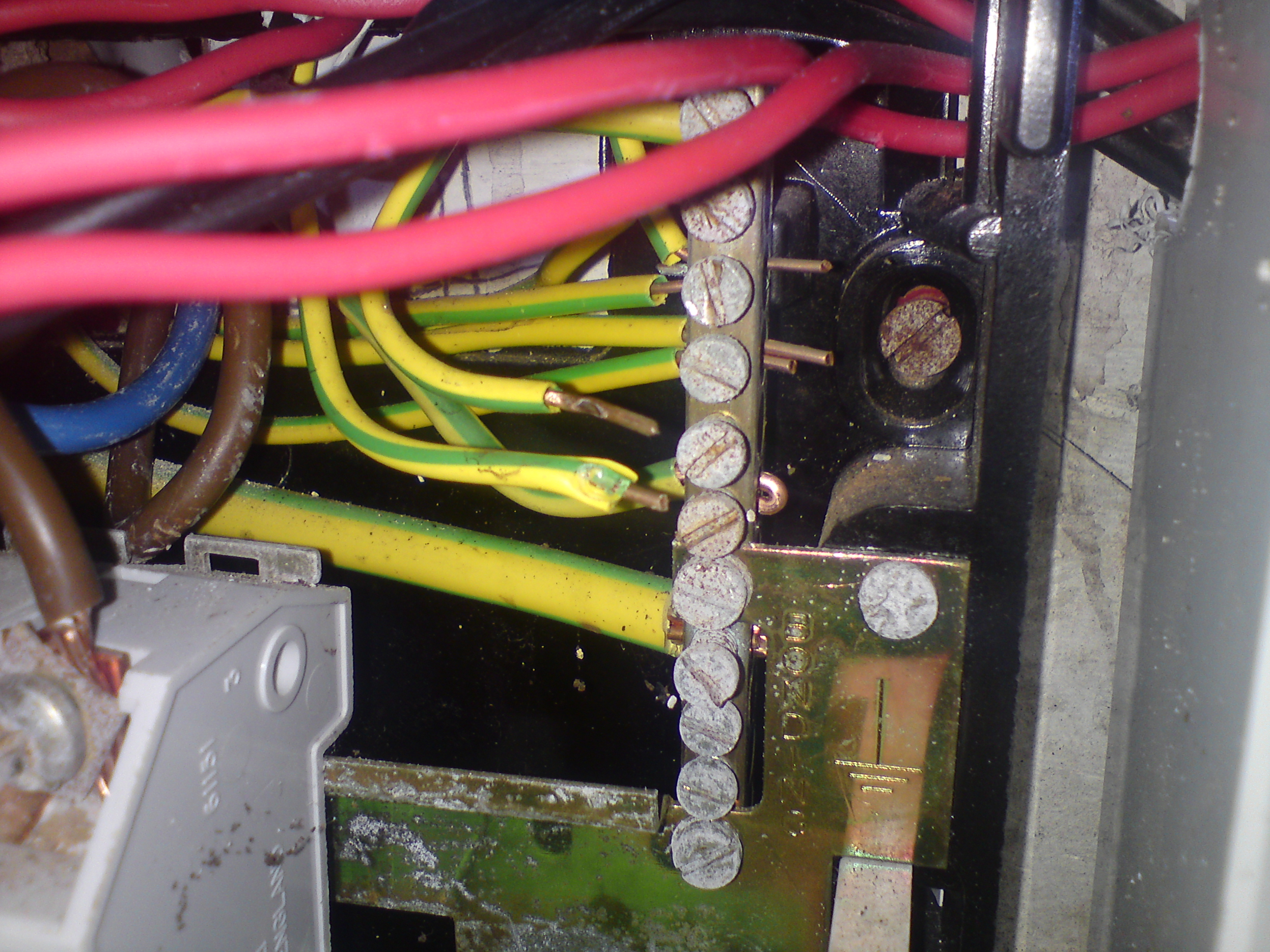 electrical test and inspection dangerous wiring earth wire clamped on its insulation