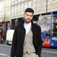 Street Style: Tim Smith In A Kooples Suit