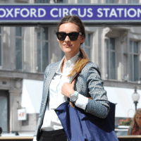 Street Style: Julia's Metallic Jacket In Oxford Circus