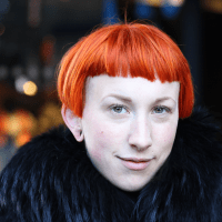 Street Style: Rebecca's Orange Hair & Vivienne Westwood Coat