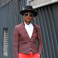 Street Style: Donya Campbell In Paul Smith At LCM