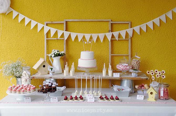 mesa de dulces comunión niña