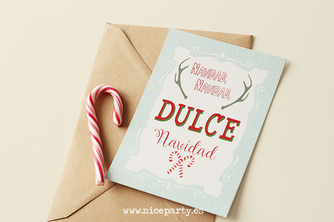 Nice Party postal de navidad para imprimir gratis