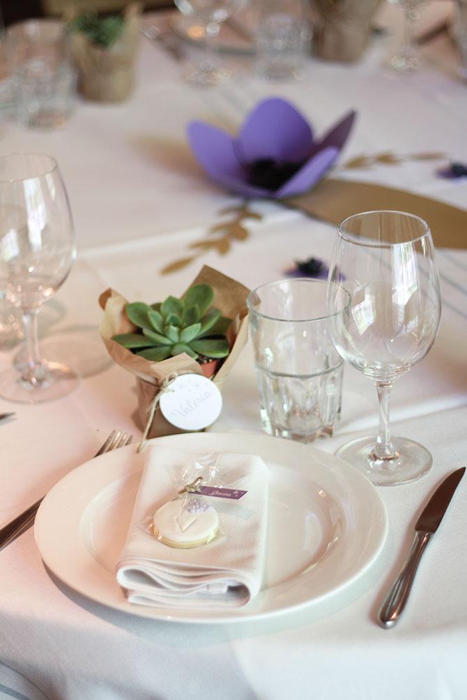 Nice Party bautizo flores lila mesa de dulces (2)