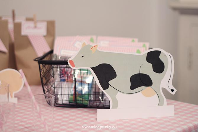 NiceParty Pack de fiesta para imprimir PDF Cumpleaños Granja /Printable party pack farm