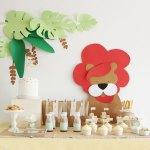Kit de fiesta para imprimir: La fiesta del león
