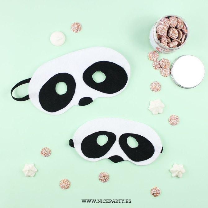 DIY máscara oso panda