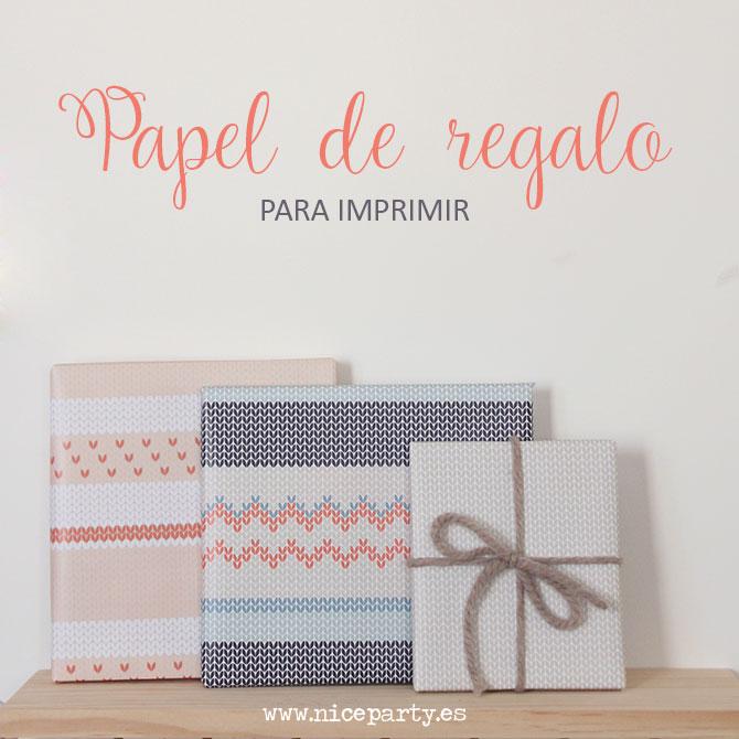 NiceParty Digital imprimible papel de regalo lana Printable knitted digital paper