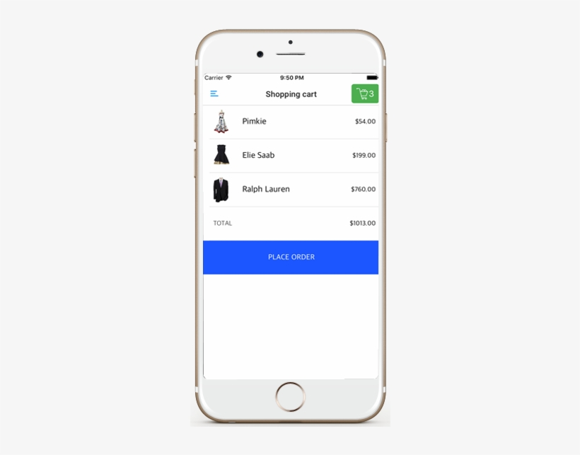 Ecommerce Ios App Template Shopping Cart Screen Iphone - Shopping