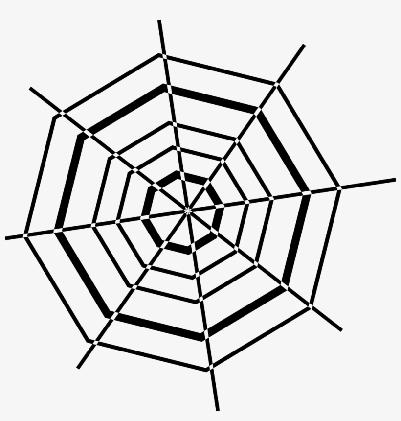 Octagonal Spider Web Svg Png Icon Free Download - Spider Web