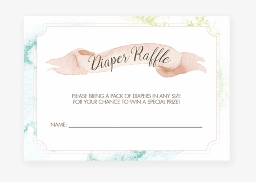 Watercolor Baby Shower Diaper Raffle Ticket Template - Eye Shadow
