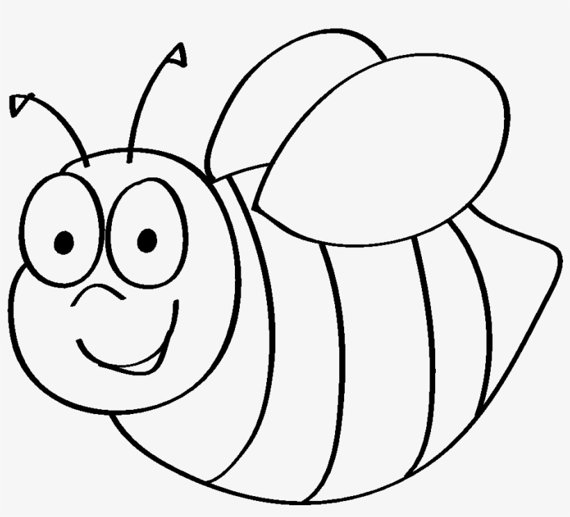 28 Collection Of Bee Drawing For Kids - Bumble Bee Template