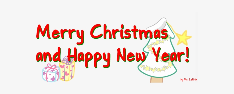 Merry Christmas Happy New Year Pieces Of Time - Merry Christmas And