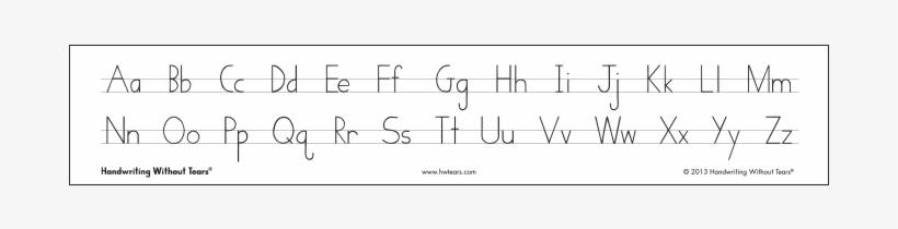 Print Alphabet Desk Strips - Cursive Alphabet Strip Printable
