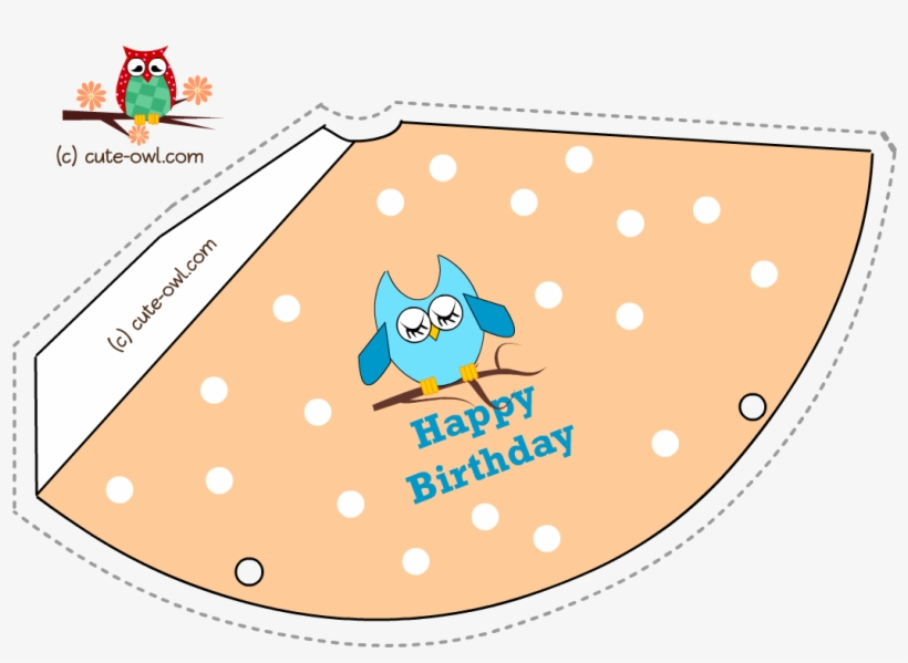 Pink Owl And Polka Dots Birthday Party Hat Printable - World\u0027s Best