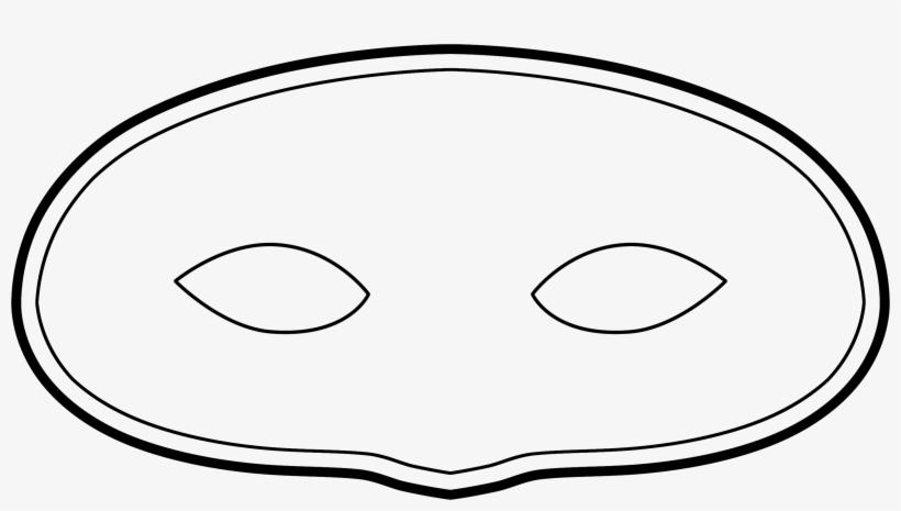 Masks Clipart Plain - Blank Mask Template Transparent PNG