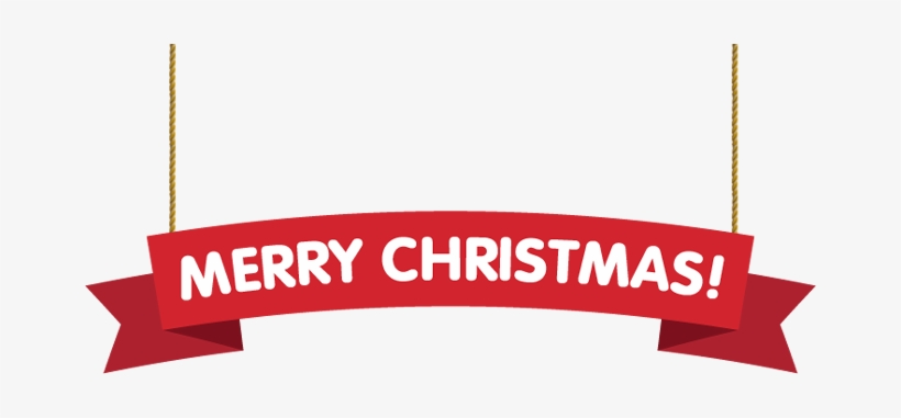 Merry Christmas Banner Png Transparent PNG - 666x301 - Free Download