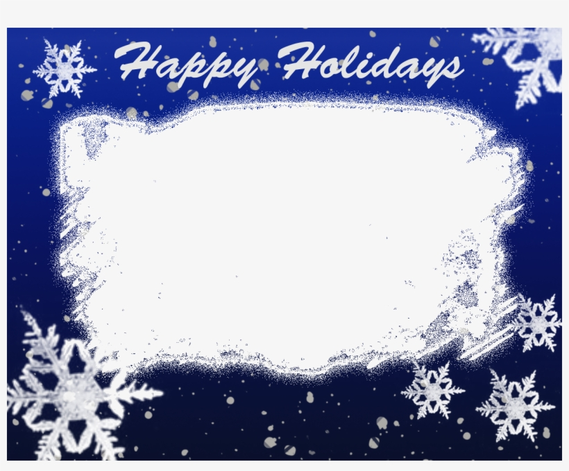 Christmas Frames - Blue Christmas Frame Png Transparent PNG