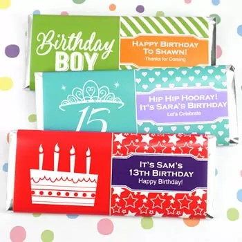 Kids Birthday Hershey\u0027s Bar Wrappers - Nice Price Favors - hershey wrappers