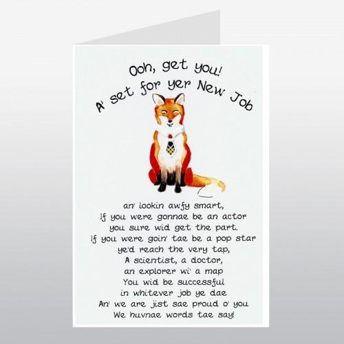Scottish New Job Card - Fox Cards Niche - new job cards