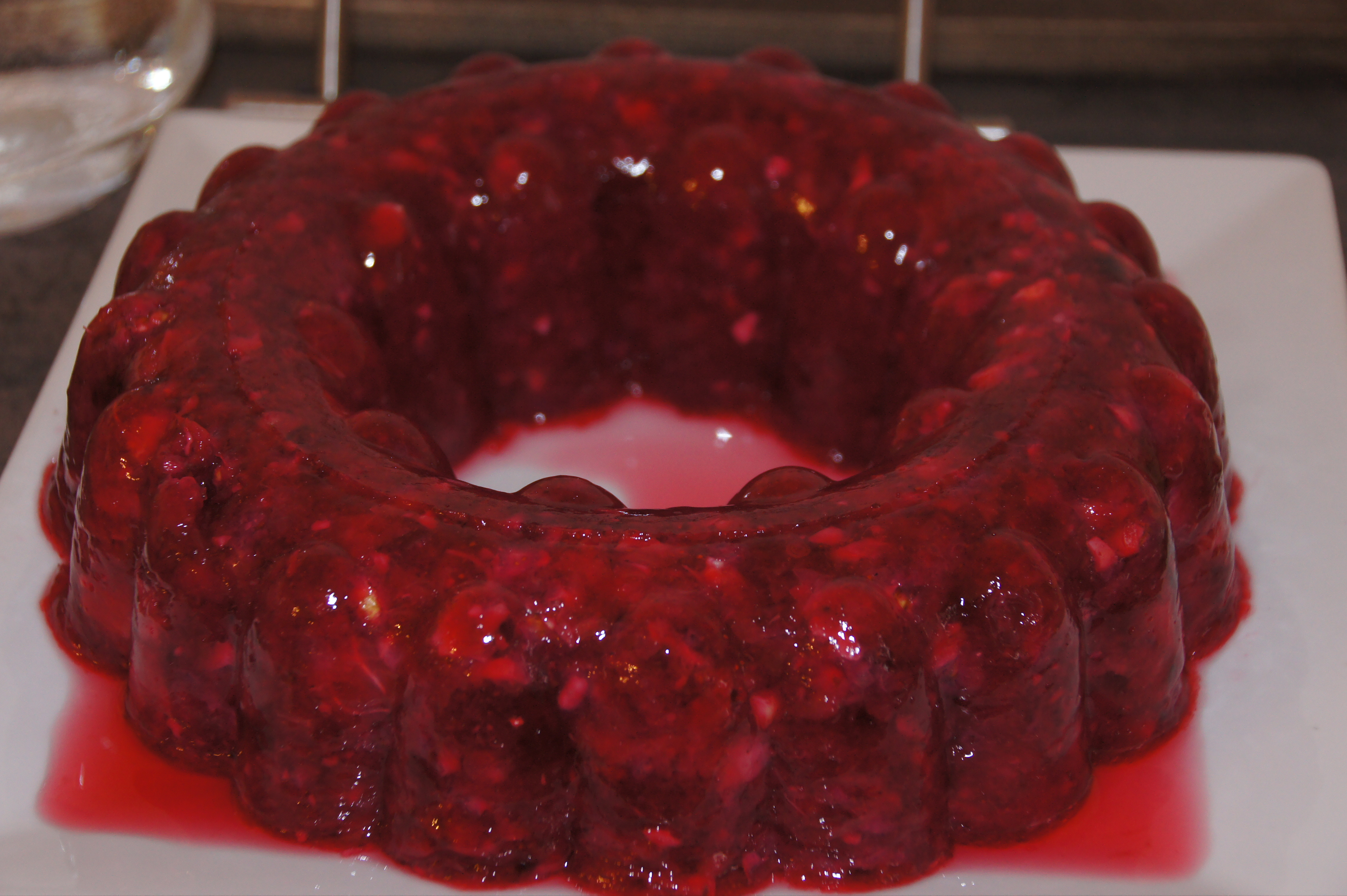 how to make cranberry gelatin mold
