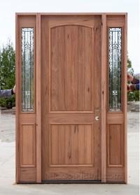 Teak Exterior Wood Doors with Sidelites