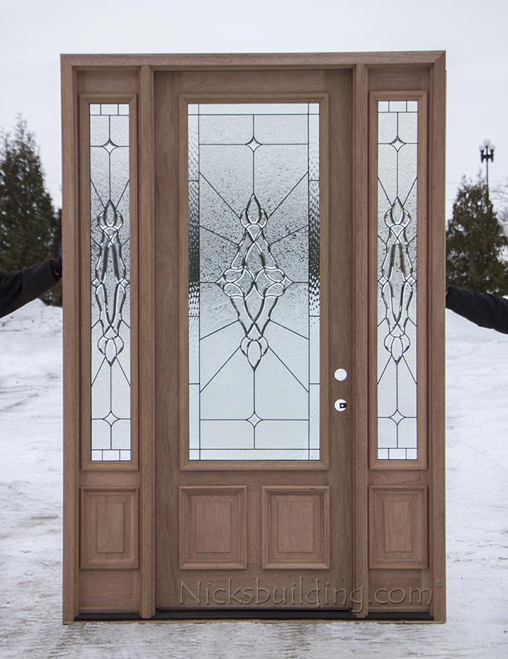 8 foot mahogany exterior door cl