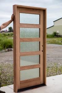 Shaker Exterior Door with Rain Glass