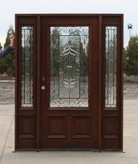 Exterior Door with Iron and Glass