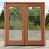 Full-lite Double Doors Clear Beveled Glass
