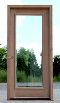 Full-Lite Exterior Door with Clear Bevel Glass